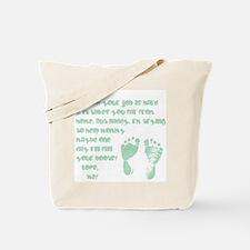 Daddy, Blue Foot Prints Tote Bag