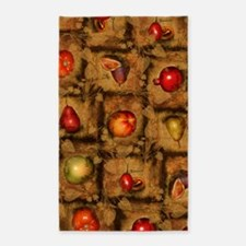 Fruit Collage Pattern 3'x5' Area Rug