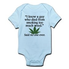 Said No One Ever: Smoking Too Much Weed Body Suit