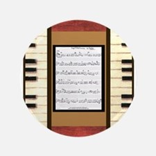 "Piano Keys Scanned Sheet Music Song K. Hubler 3.5"""
