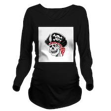 pirate skeleton copy.jpg Long Sleeve Maternity T-S