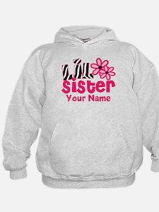Little Sister Pink Zebra Hoodie