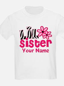 Little Sister Pink Zebra T-Shirt