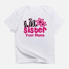 Little Sister Pink Zebra Infant T-Shirt