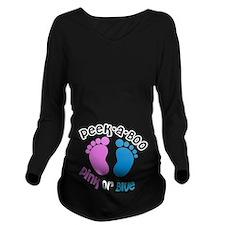 Peek-A-Boo Long Sleeve Maternity T-Shirt