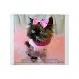 Freida, the throw away kitty Blankets
