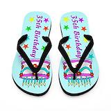 35th birthday Flip Flops