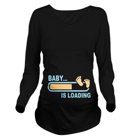 Baby is Loading Long Sleeve Maternity T-Shirt