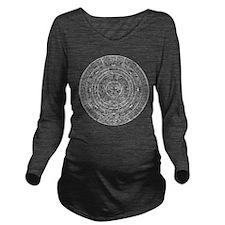 Aztec Sun Stone Calendar Long Sleeve Maternity T-S