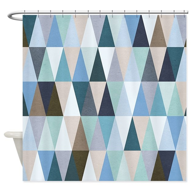 Geometric Pattern Shower Curtain By BestShowerCurtains