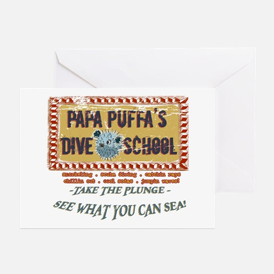 Papa Puffa's Dive School Greeting Cards (Package o