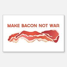 Make Bacon Not War Decal