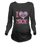 love mice.png Long Sleeve Maternity T-Shirt