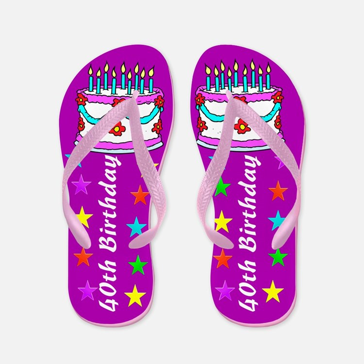 FANCY 40TH Flip Flops