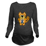 blue ribbon orange kitty cat copy.png Long Sleeve