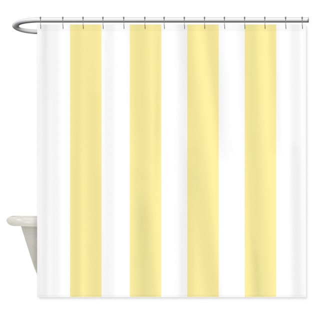 Banana Yellow Stripes Shower Curtain By Erics Designz