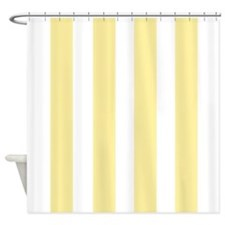 Banana Yellow Stripes Shower Curtain