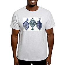 3 Flounder Ash Grey T-Shirt