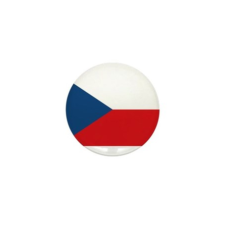 Flag of the Czech Republic Mini Button (100 pack)