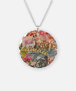 Vintage Hawaii Travel Colorf Necklace