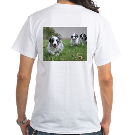 NorCal Aussie Rescue 2-sided White T-Shirt
