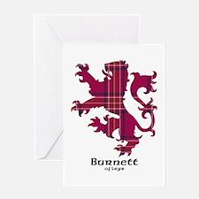 Lion - Burnett of Leys Greeting Card