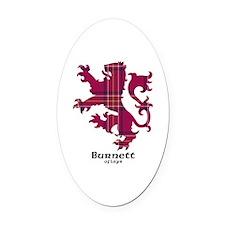 Lion - Burnett of Leys Oval Car Magnet