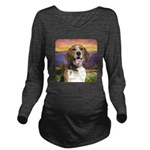 Beagle Meadow Long Sleeve Maternity T-Shirt