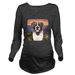 Pit Bull Meadow Long Sleeve Maternity T-Shirt