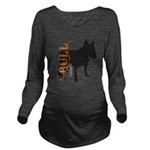 grungesilhouette.png Long Sleeve Maternity T-Shirt