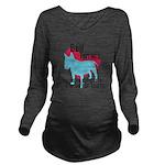 pawprints.png Long Sleeve Maternity T-Shirt