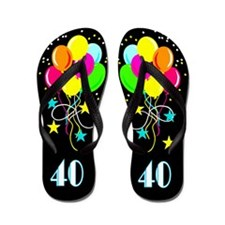 LAVISH 40TH Flip Flops