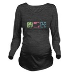 Peace, Love, Zuchons Long Sleeve Maternity T-Shirt