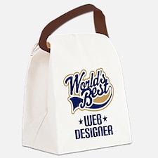 Web Designer (Worlds Best) Canvas Lunch Bag