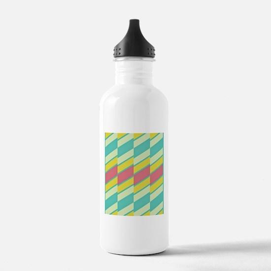 60s Pastel Stripe Water Bottle