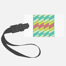 60s Pastel Stripe Luggage Tag