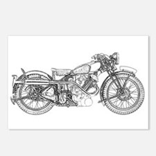 1935 Motorcycle Postcards (Package of 8)