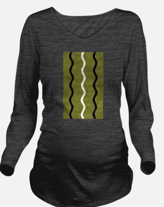 Army Green 3 Waves Wondrous Squiggles Long Sleeve