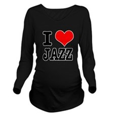 JAZZ.png Long Sleeve Maternity T-Shirt