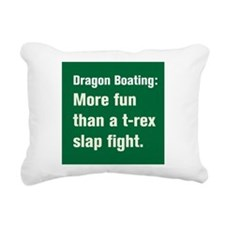 Funny Dragon boat paddling Rectangular Canvas Pillow