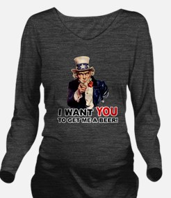 Uncle Sam Want You to GET ME A BEER Long Sleeve Ma