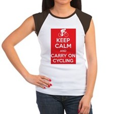Keep calm and carry on  Women's Cap Sleeve T-Shirt