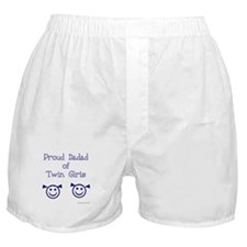 Proud Dadad of Twin Girls Boxer Shorts