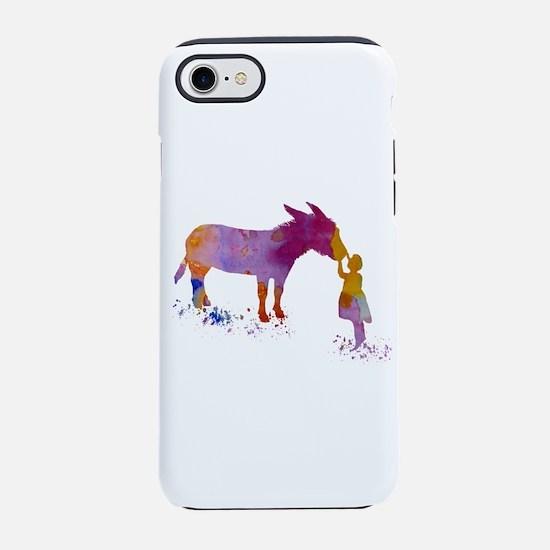 Donkey and child iPhone 7 Tough Case