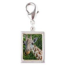Giraffe Silver Portrait Charm