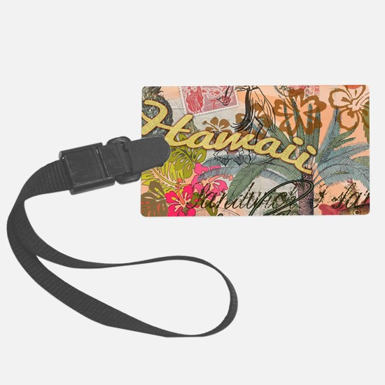 Vintage Hawaii Travel Colorful H Luggage Tag