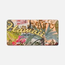Vintage Hawaii Travel Color Aluminum License Plate