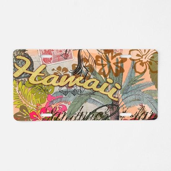 Vintage Hawaii Travel Color Aluminum License Plate