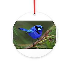 Blue Wren Ornament (Round)