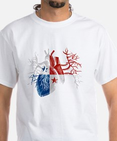 Panama Flag in Real Heart Shirt